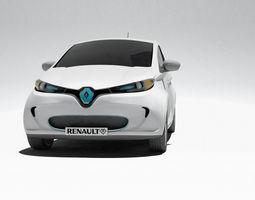 zoe  renault electric car 3d model max obj 3ds fbx stl wrl wrz