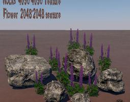 Rocks 3D model game-ready
