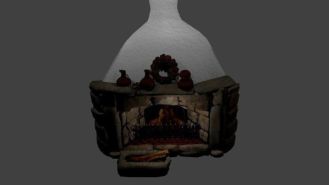 Fairy tale fireplace 3D asset | CGTrader