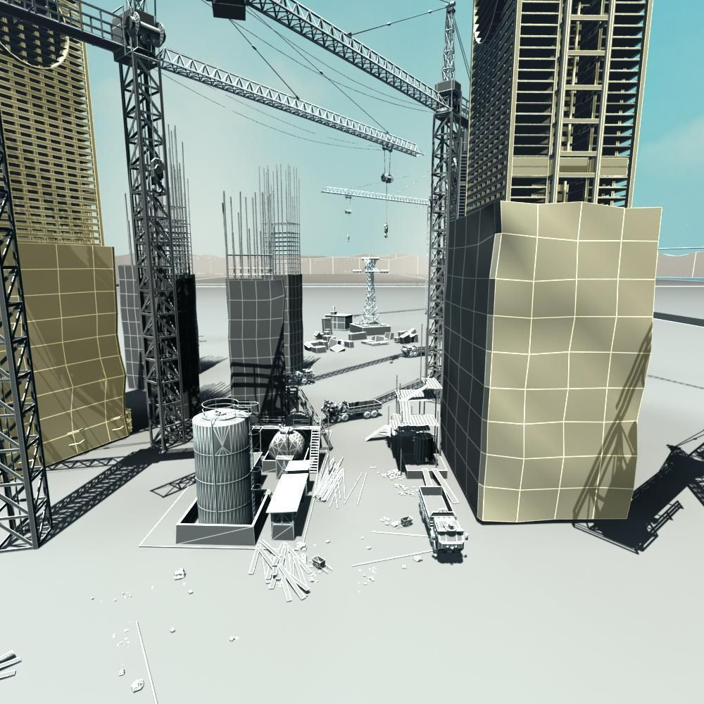 3D Construction Site   CGTrader 578be365aa5f