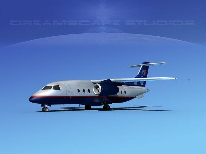 3d Dornier 328jet United Express Cgtrader