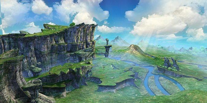 mountain  scene 3d model max obj fbx mtl tga 1