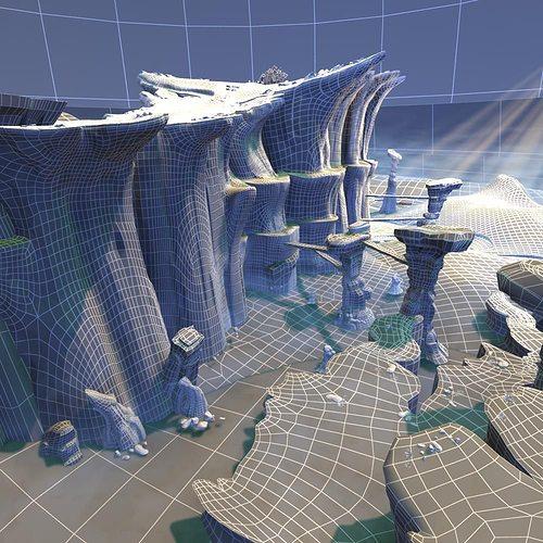 Exterior: Mountain Scene 3D Model MAX OBJ FBX MTL TGA