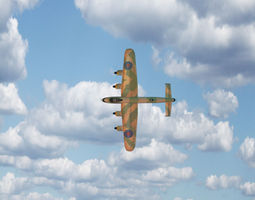 Lancaster Military Airplane Model 3D