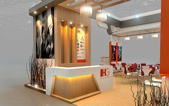 Ihg hotel booth design 3d model max 3ds for Design hotel 3d