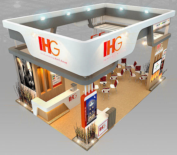Ihg hotel booth design 3d model max 3ds for 8 design hotel
