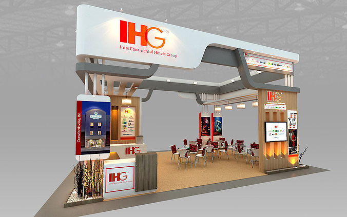 ihg hotel booth design 3d model max 3ds 1