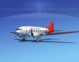 3D model Douglas R-4D Dakota US Navy V3
