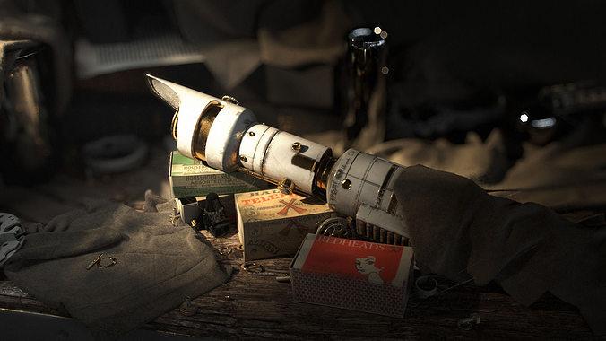 lightsaber 3d model max obj stl 1