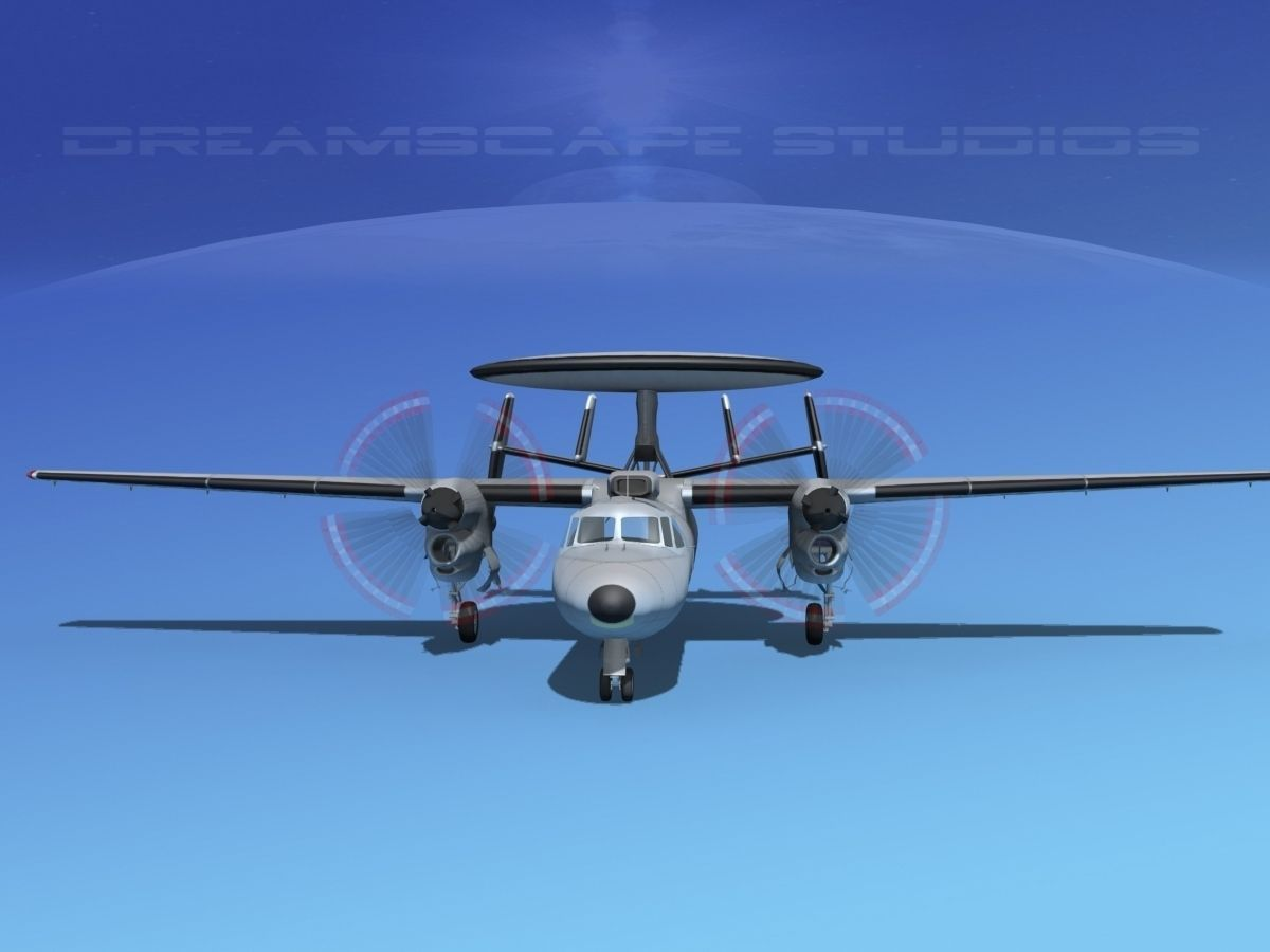 grumman e 2c hawkeye bare metal 3d model animated rigged. Black Bedroom Furniture Sets. Home Design Ideas