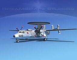 3D model Grumman E-2C Hawkeye V02
