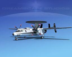 3D model Grumman E-2C Hawkeye V15