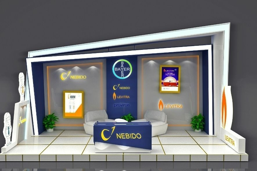 Exhibition Stand Free D Model : Exhibition stand 3d model free download