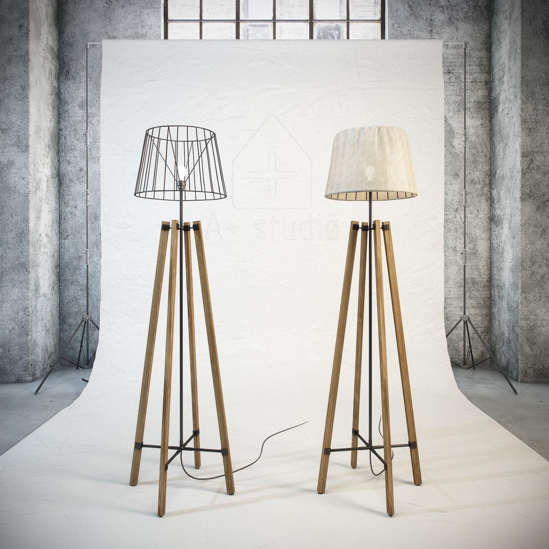 3d Model Wood Wire Floor Lamp Cgtrader Wiring A Max Obj Mtl Fbx Unitypackage Prefab 2