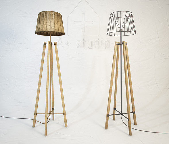 3d model wood wire floor lamp cgtrader rh cgtrader com wiring a floor lamp with light on bottom wiring a 3 way floor lamp