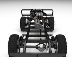 full suv chassis 3d model obj fbx stl blend dae