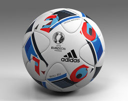 realtime euro 2016 adidas beau jeu official ball uefa 3d model