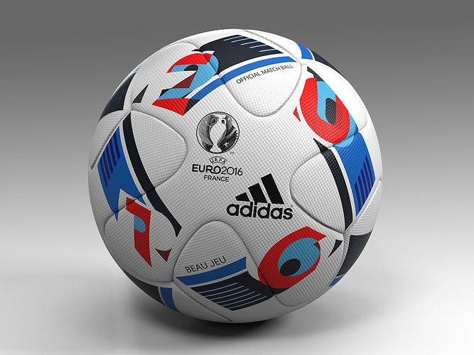 euro 2016 adidas beau jeu official ball uefa 3d model max obj mtl fbx 1