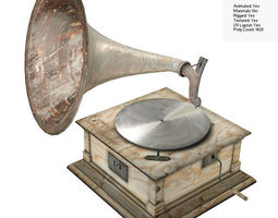 3D asset Old Gramophone
