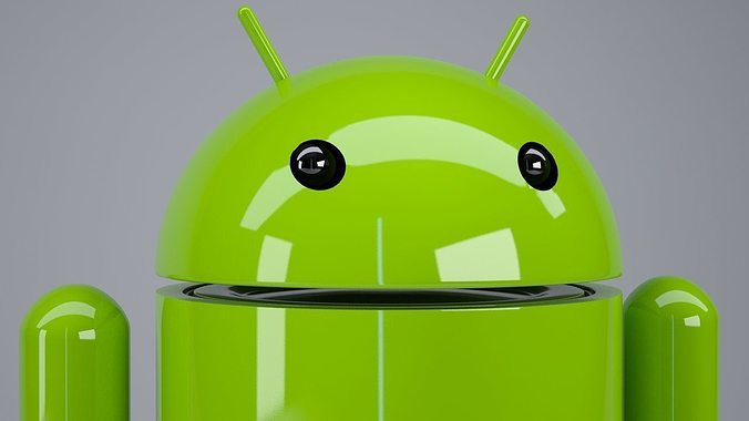 android logo rigged 3d model rigged max obj mtl 1