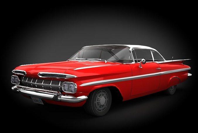 chevrolet impala 1959 3d model low-poly max obj mtl fbx 1
