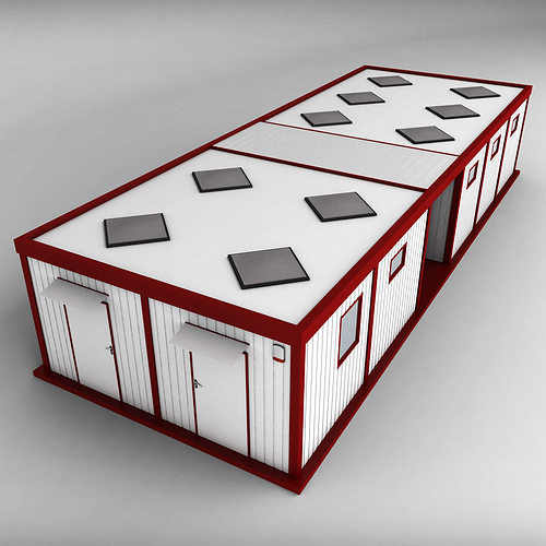 container double shipping house 3d model max obj mtl 3ds fbx 1
