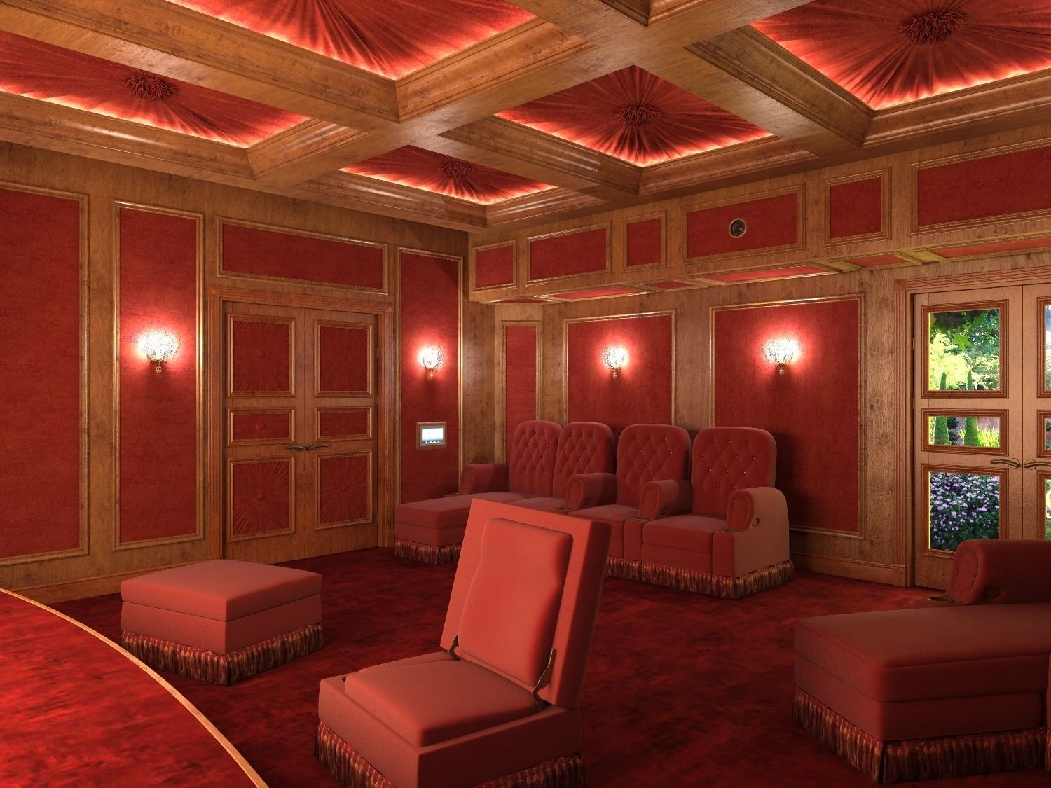 Movie house 3d model max for Model house movie