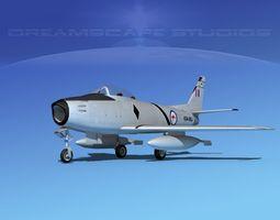 north american f-86 sabre jet v14 raaf 3d rigged