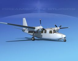 animated 3d aero commander 500 bare metal