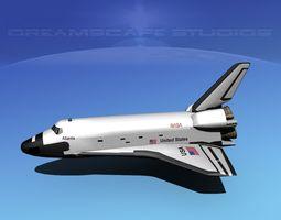 sts shuttle atlantis basic lp 1-1 3d model rigged
