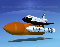 rigged sts shuttle atlantis launch lp  1-4 3d model