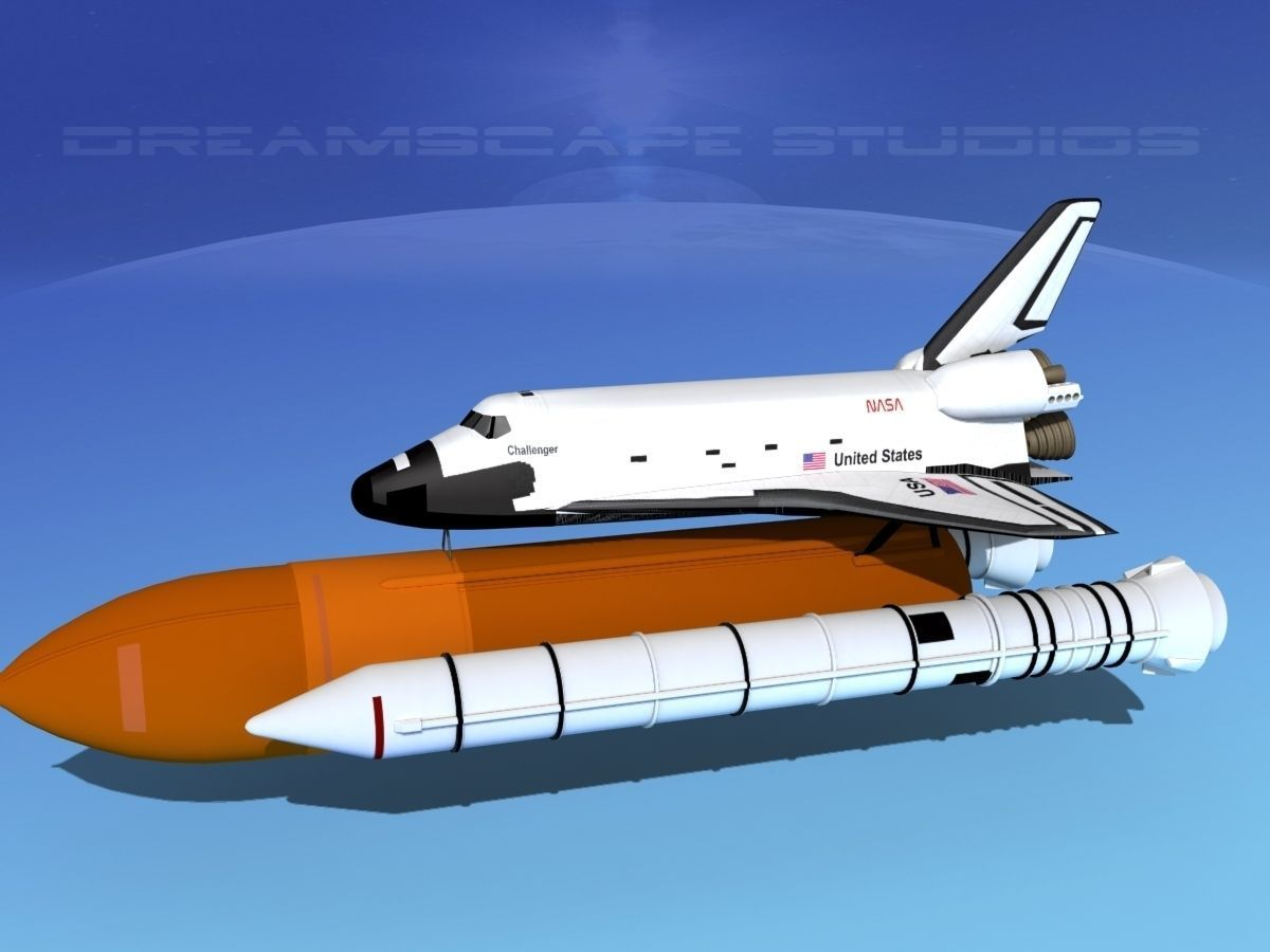 Space Shuttle Challenger Launch LP 1-4 3D Model rigged MAX ...