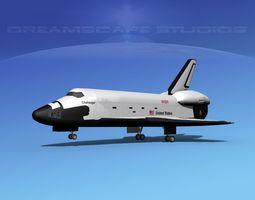 3d model rigged space shuttle challenger landing mp 2-3