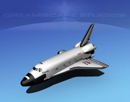 rigged 3d sts shuttle columbia basic lp 1-1