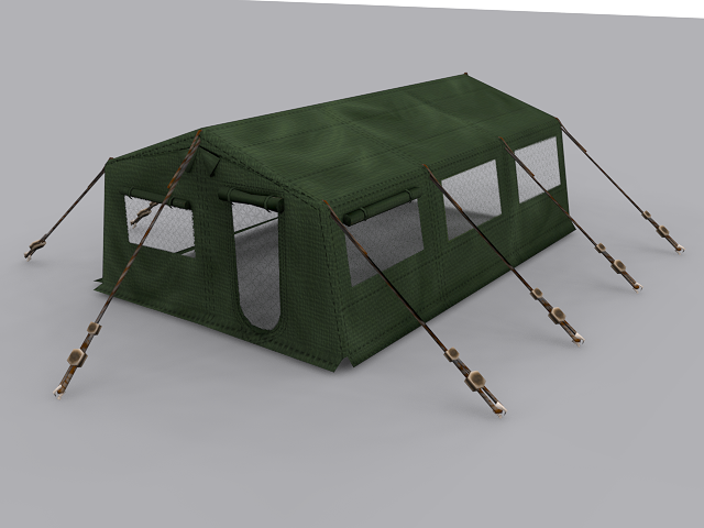 Army Tent VR / AR / low-poly 3D model & 3D model Army Tent | CGTrader