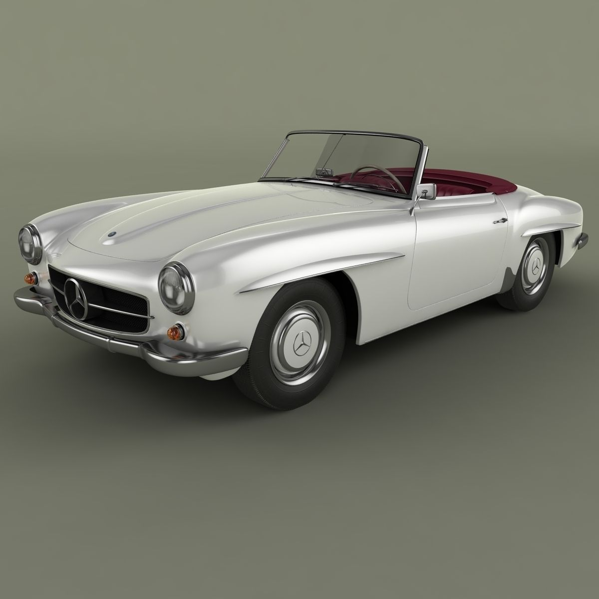 mercedes benz 190 sl 3d model max obj 3ds. Black Bedroom Furniture Sets. Home Design Ideas