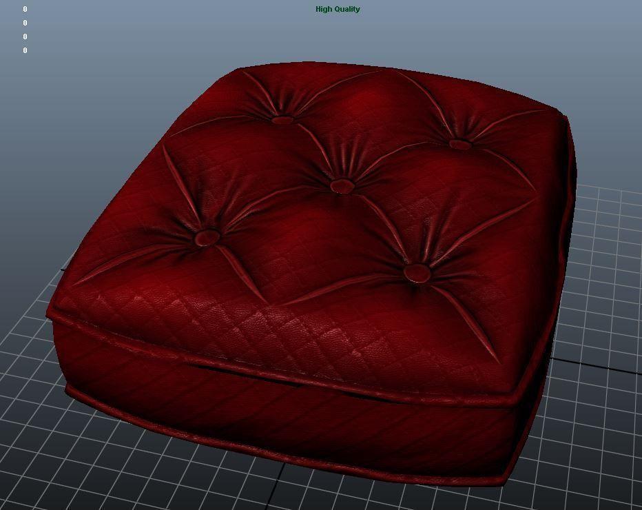 Sofa Cushion Texture 3d Model Low Poly Ma Mb Tga 1 ...
