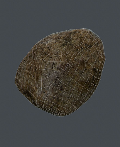 stone texture 3d model low-poly ma mb 1