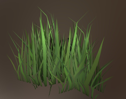 Game-ready Gras 3D model
