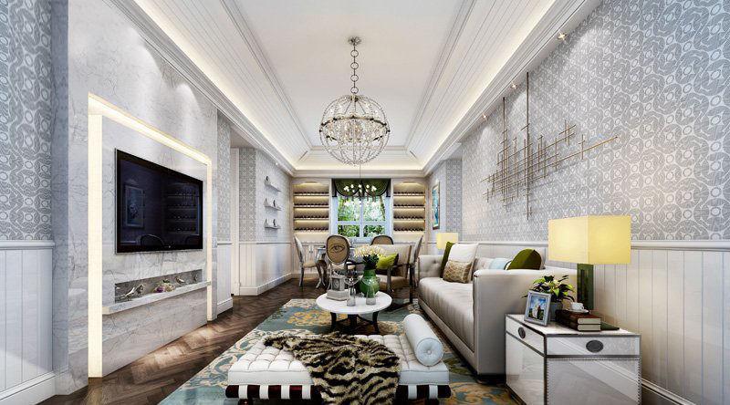 Realistic Living Room Design 17 3d Model