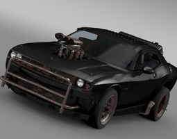 3d mad max fight interceptor dodge challenger 2015
