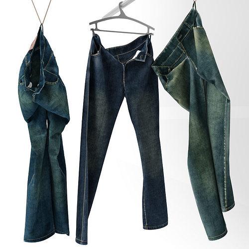 jeans 3d model max obj fbx 1