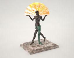 Pro - Standing Woman Lamp 3D model