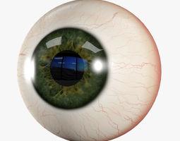 human eye 3d model low-poly