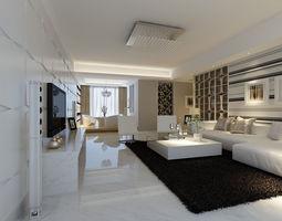 3d model modern living room 267
