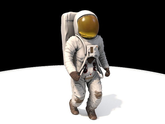 3d model animated astronaut cgtrader