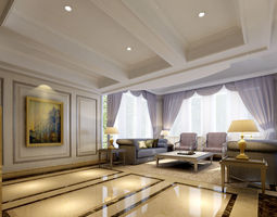 european style living room 22 3d