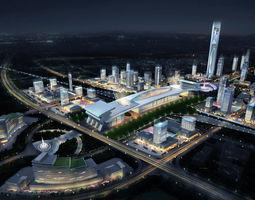 urban Railway terminal 3D model