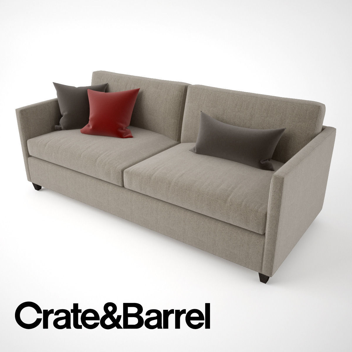 3d Crate And Barrel Dryden Apartment Sofa Cgtrader