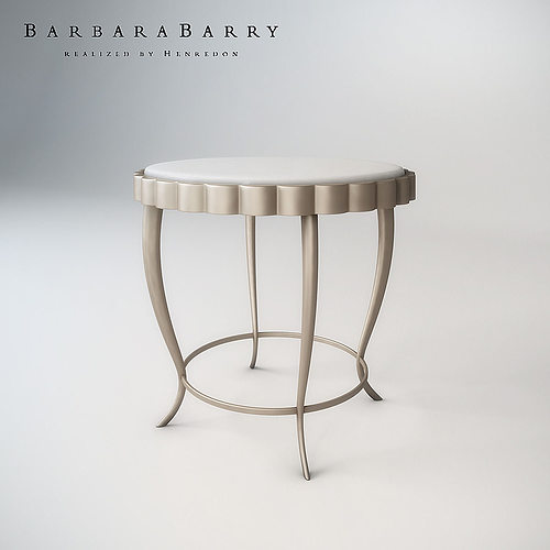 Beautiful Barbara Barry Chinched Occasional Table 3D Model